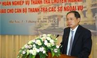 Thanh tra Bộ Ngoại giao tổ chức tập huấn nghiệp vụ thanh tra chuyên ngành ngoại giao