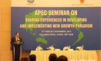 Hội thảo APEC về Chia sẻ kinh nghiệm xây dựng và thực thi mô hình tăng trưởng mới