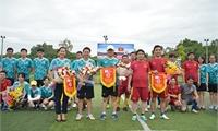 Sôi nổi giao hữu bóng đá giữa UBND huyện Thanh Ba và Liên quân Trung tâm đối ngoại Phú Thọ - tổ chức GPI (Hàn Quốc)