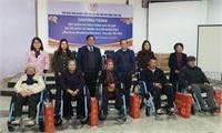 Tập huấn và trao tặng 260 xe lăn  do tổ chức The Free Wheelchair Mission (Mỹ) tài trợ