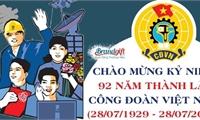 Tổ chức tuyên truyền kỷ niệm 92 năm ngày thành lập Công đoàn Việt Nam (28/7/1929 - 28/7/2021).