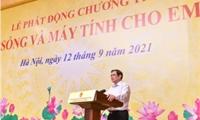 """Thủ tướng Phạm Minh Chính kêu gọi chung tay, góp sức hỗ trợ """"sóng và máy tính"""" cho hàng triệu học sinh, sinh viên"""